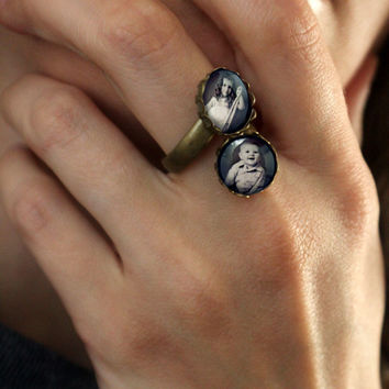 Custom Ring with 2 Photos