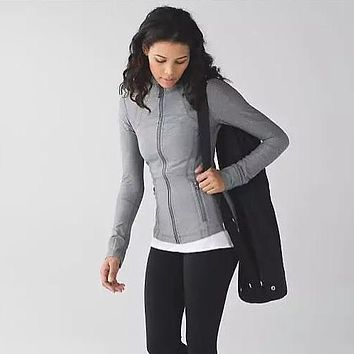 Lululemon Fashion Casual Sport Running Cardigan Jacket Coat