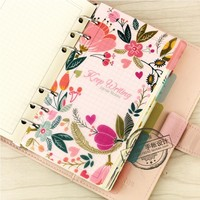 Jamie Planner Original A7 A6 A5 PP Material Separator Pages 6 loose Leaf Notebook Separator Pages