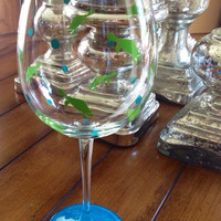Turtle Personalized Wine Glass