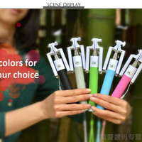 2015 New Extendable Handheld Selfie Stick II With grooves on monopod For IOS android Audio Cable Remote Control Selfie monopod