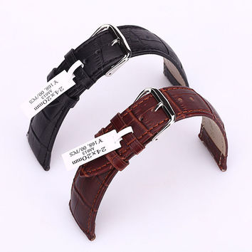 Black Brown Luxury Crocodile Genuine Leather Strap Watch band For Apple Watch  iWatch Sport Edition 38MM 42MM