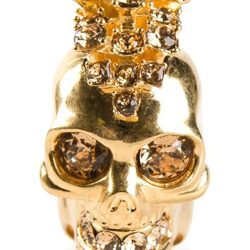 Alexander McQueen mohican skull cocktail ring