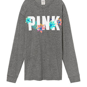 Long Sleeve Campus Tee - PINK - Victoria's Secret