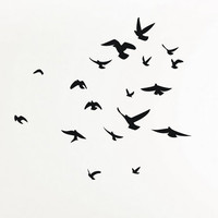 Flock of Birds wall decal