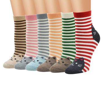 Animals Style Stripes Socks Funny Crazy Cool Novelty Cute Fun Funky Colorful