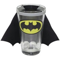 Batman Decal Pint Glass with Detachable Fabric Cape: Amazon.com: Kitchen & Dining