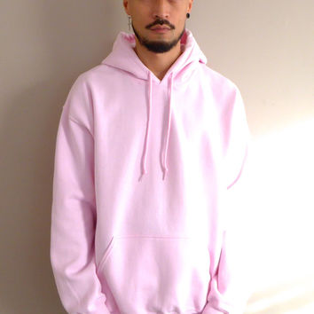 WWYF Oversized 90s Fit Overhead Hoodie in Light Pink