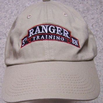 Embroidered Baseball Cap Military Army 5th Ranger Training Bn NEW 1 size fit all