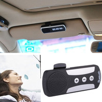 New Bluetooth 3.0 Hands-free Dual Link Visor Mount Car Multipoint Speakerphone Kit AP = 1645815812