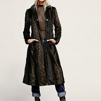 Free People Womens Leaping Leopard Coat - Leopard