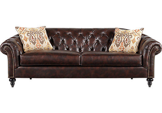 Cindy Crawford Home Meredith Walnut Sofa From