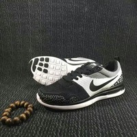 nike trending fashion black white mixed colors casual sports shoes