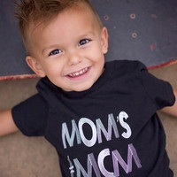 Mom's #MCM Shirt, Toddler t-shirt, Trendy kids clothes, Hipster kids clothes, Child shirt, Screen Printed Shirts, Graphic Tee, Kids Tee