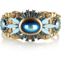 Elizabeth Cole Gold-plated crystal cuff – 60% at THE OUTNET.COM