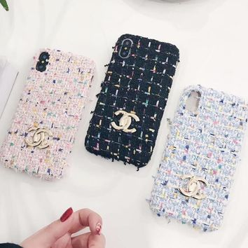 CHANEL Stylish Cute Colorful  iPhone Phone Cover Case For iphone 6 6s 6plus 6s-plus 7 7plus + Best Gift