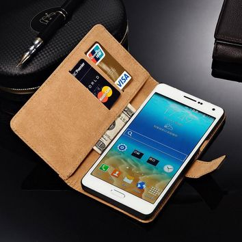 Leather Case For Samsung Galaxy A7 2016 A8 2015 J3 2016 Ace 4 Lite Grand Neo Wallet Style Mobile Phone Bags Cases Cover