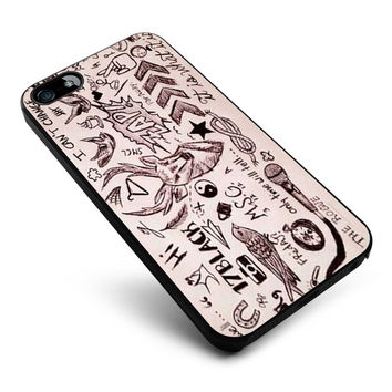 One Direction Tattoos iPhone 4s iphone 5 iphone 5s iphone 6 case