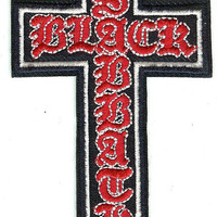 Black Sabbath Iron-On Patch Cross Logo