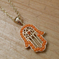 Gold Hamsa Hand necklace | Candy's Cottage