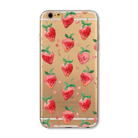Small strawberry mobile phone case for iphone 5 5s SE 6 6s 6 plus 6s plus + Nice gift box 072701