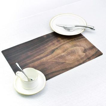 New Dining Tables Place Mats Wood Grain Creative Personality Eat Tableware Utensil Restaurant Decor Catering Accessories P20