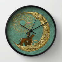 Moon Travel Wall Clock by Eric Fan