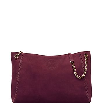 Tory Burch Marion Suede Center-zip Tote