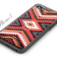 Clear Snap-On iPhone 5 Cover Case. AZTEC MAYAN PATTERN Logo Design for iPhone 5