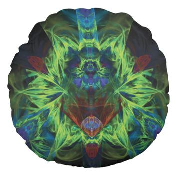 Fractal Pattern Round Pillow