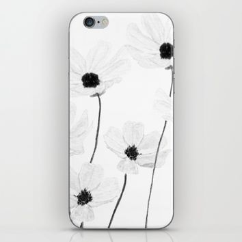 black and white cosmos  iPhone & iPod Skin by Color and Color
