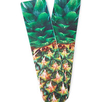 Close-Up Pineapple Print Socks