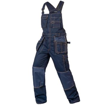 Aolameg Bib overalls men casual work coveralls multi-functional pockets strap jumpsuits wear-resistance sleeveless coveralls