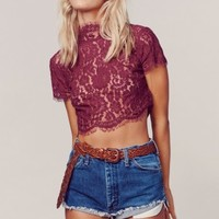 INTERLUDE LACE TOP