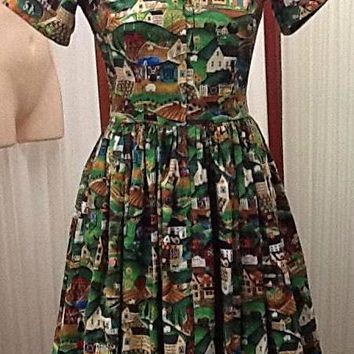 Bernie Dexter Drive-in Dress in Heartland Print