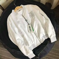 kenzo tiger head embroidering White women jacket Thick coat sweatshirt H-A-XYCL