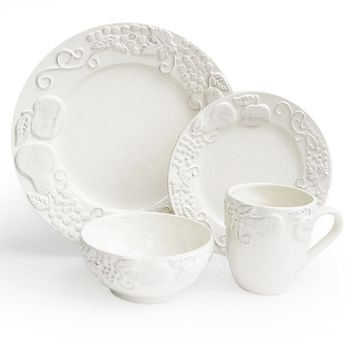 American Atelier Frutta 16-pc. Dinnerware Set (White)