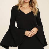 Groove On Black Shift Dress
