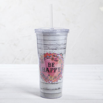 Natural Life Be Happy On The Go Cup