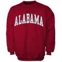 Alabama Crimson Tide Bold Arch Crew Neck Sweatshirt -Crimson