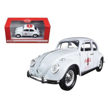 "1967 Volkswagen Beetle ""Celebrating 100 years of the Coca Cola Contour Bottle"" 1/24 Diecast Model Car by Motorcity Classics"