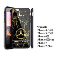 Mercedes Benz AMG Gold Marble Automotive iPhone 6 6s 7 7+ X Hard Plastic Case