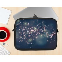 The Dark & Glowing Sparks Ink-Fuzed NeoPrene MacBook Laptop Sleeve