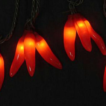 Novelty Lights - 36 Red Chili Peppers