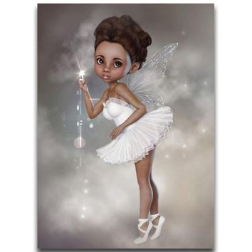 5D Diamond Painting White Dress Ballerina Fairy Kit