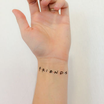 2 Friends Temporary Tattoos- GeekTat - Stocking Stuffer