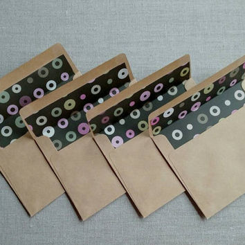 Set of ten blank note cards with envelopes, set of ten blank white and kraft greeting cards, diy greeting cards, ready to be decorated.