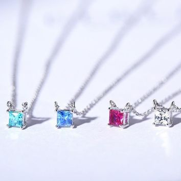 New Arrival Jewelry Gift Shiny Korean Stylish Accessory 925 Silver Simple Design Necklace [7587127687]