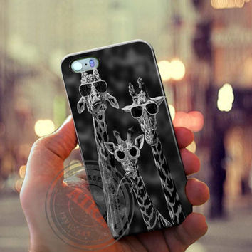 Sunglasses Giraffe Case for Iphone 4, 4s, Iphone 5, 5s, Iphone 5c, Samsung Galaxy S3, S4, S5, Galaxy Note 2, Note 3.