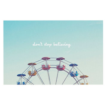 "Libertad Leal ""Don't Stop Believing"" Ferris Wheel Decorative Door Mat"